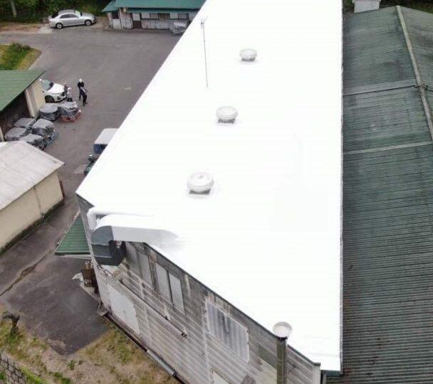 岡山市南区某工場|シリコン塗装
